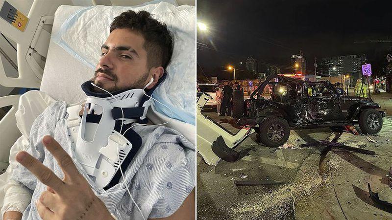 Fer Vázquez, de Rombai, salvó su vida de milagro tras sufrir un brutal accidente en su camioneta