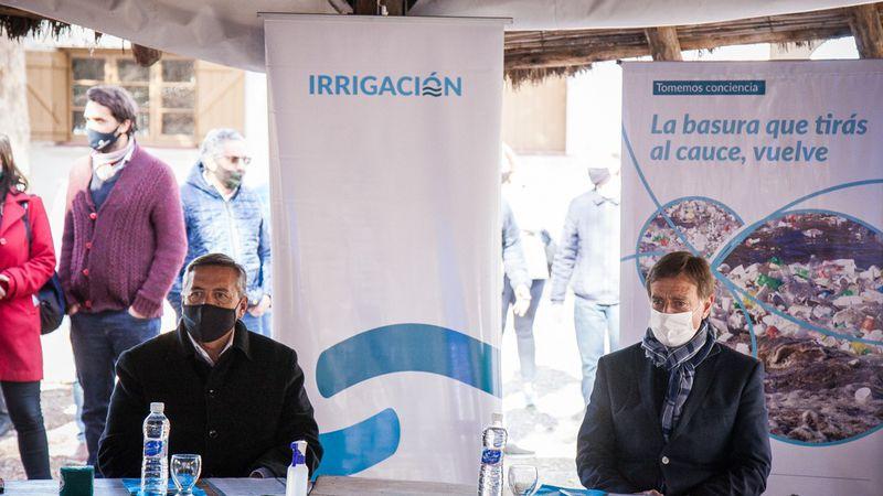 Irrigación contra la basura en el agua: lanzó una campaña de concientización junto al Gobierno y los municipios del Gran Mendoza