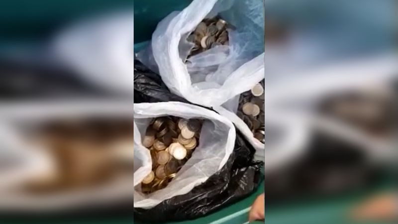 TikTok: juntó 4 mil pesos en monedas, las vendió como metal y le pagaron más del doble