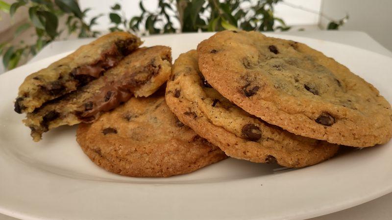 Deliciosas cookies XL con Nutella