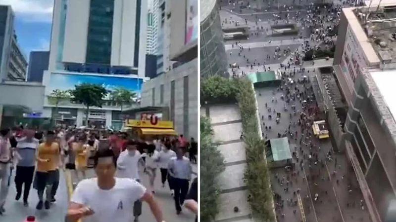 Video: pánico en China por el rascacielos que se sacude solo, sin ninguna razón lógica