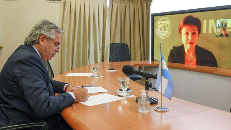 Fernández tendrá mañana su primera reunión presencial con Georgieva, jefa del FMI
