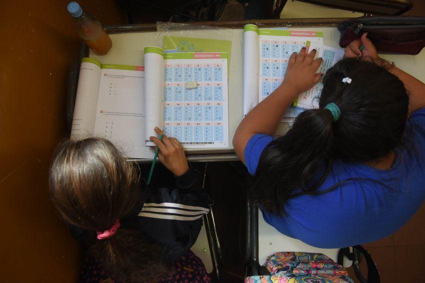 """Pruebas """"Aprender"""": evaluaron capacidad de resolver problemas.  Ignacio Blanco / Los Andes"""