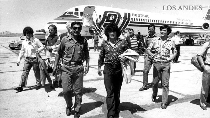 Desde promesa juvenil en el 78 hasta DT de Gimnasia: así fueron las visitas de Maradona a Mendoza
