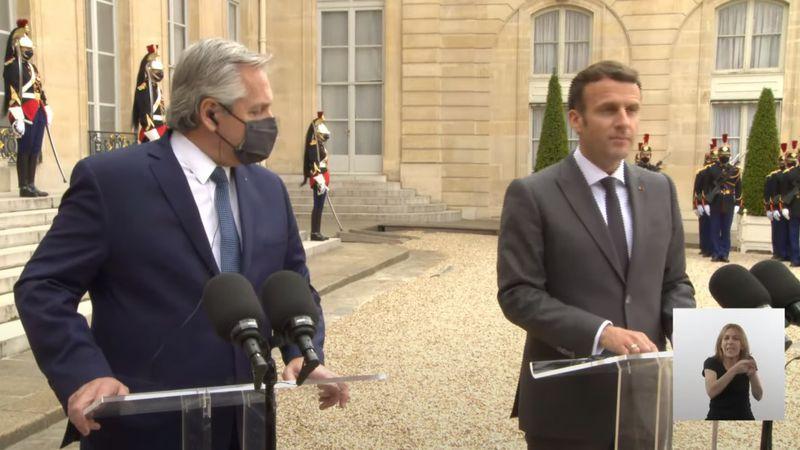 """Alberto Fernández consiguió el apoyo de Emmanuel Macron para un """"diálogo constructivo"""" con el Club de París"""