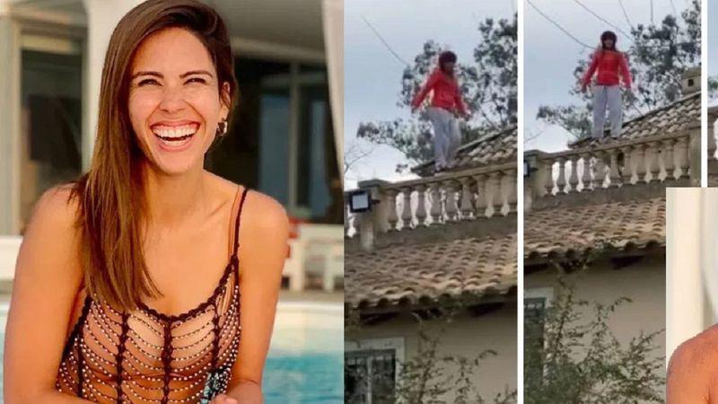 ¡Qué peligro! Barby Franco bailó desde arriba de un techo y Burlando se asustó