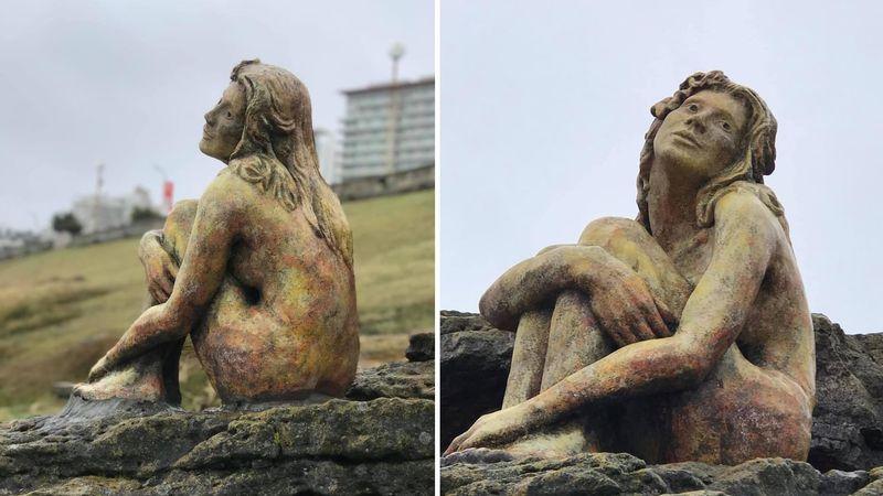 Qué se sabe de la enigmática escultura que apareció en Mar del Plata
