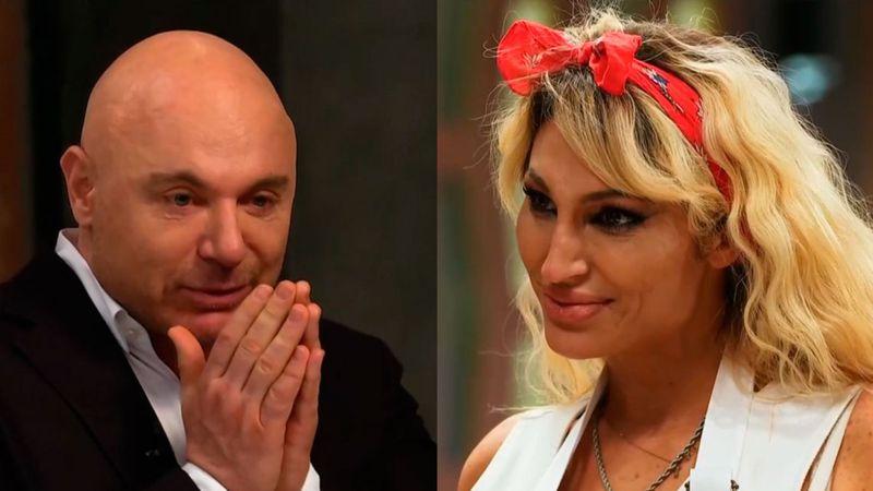 Vestida de novia y con un ramo, Vicky Xipolitakis apuró a Martitegui y él confesó su trauma