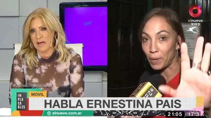 Ernestina Pais estalló de furia en un móvil en vivo y Susana Rocassalvo la sacó del aire