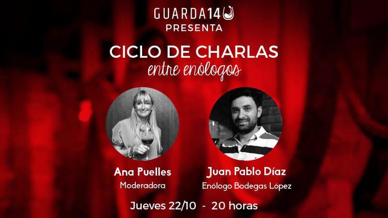 """Juan Pablo Díaz, protagonista de una nueva charla """"Entre enólogos"""" de Guarda14"""