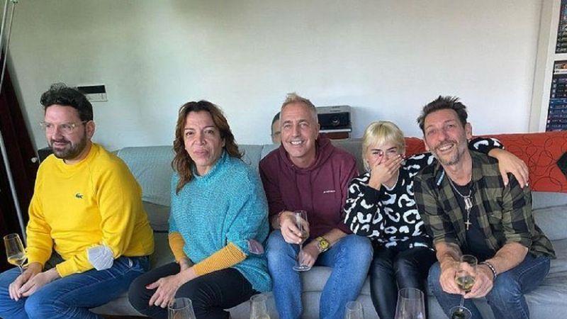 """¿Quién está detrás? La silueta que """"acecha"""" en la foto viral de Marley, Lali, Lizy Tagliani y Damián Betular"""