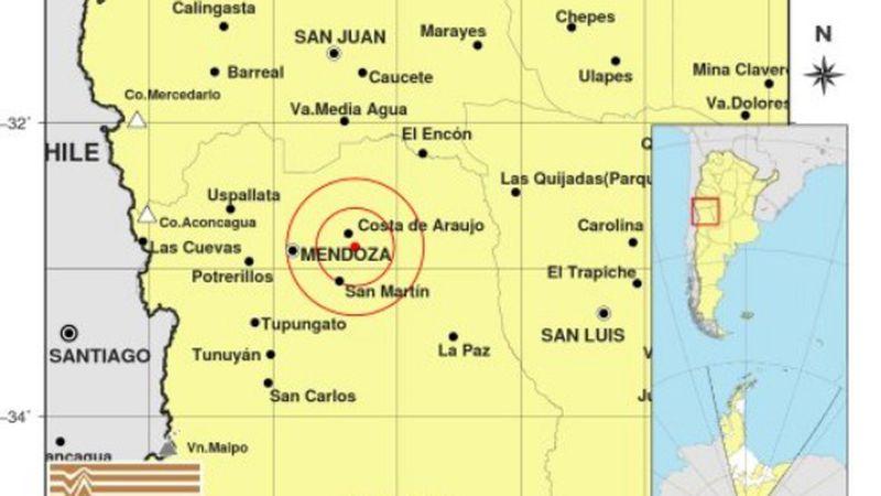 Un temblor sorprendió a varios mendocinos esta mañana