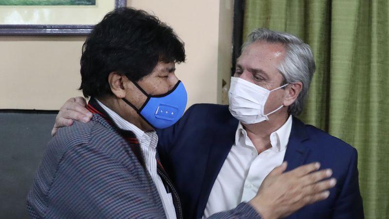 La Quiaca: Alberto Fernández despidió a Evo Morales, quien regresó a Bolivia