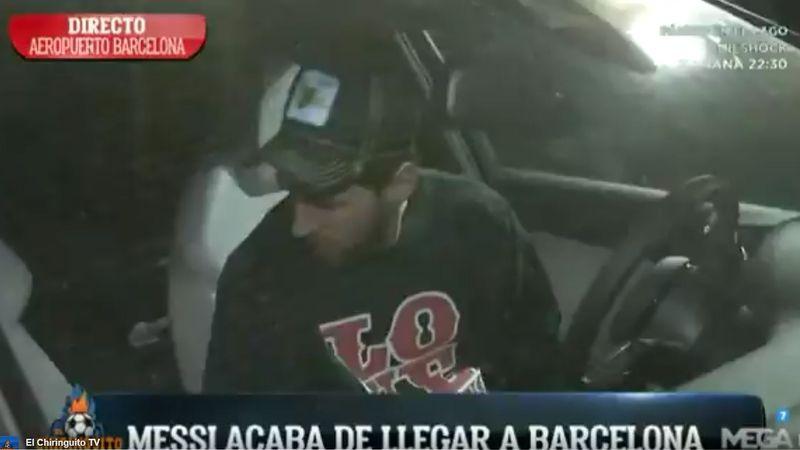 Messi arribó a Barcelona sin emitir palabras tras la goleada sufrida ante España