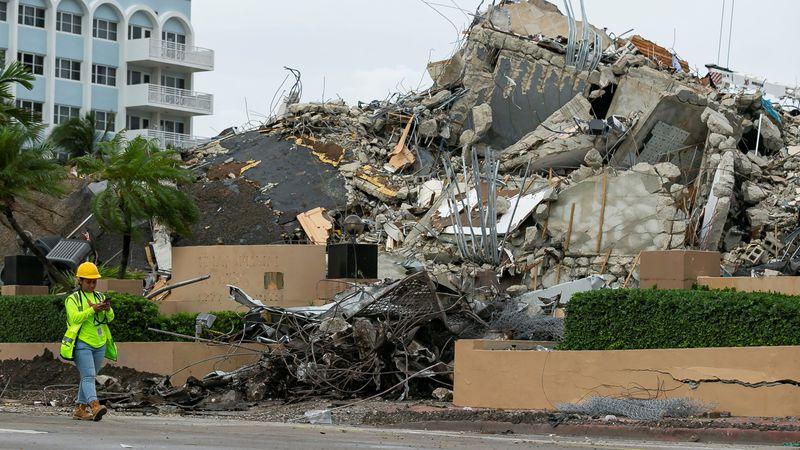 Derrumbe en Miami: se elevó  a 78 la cifra de muertos y aún hay 62 personas desaparecidas