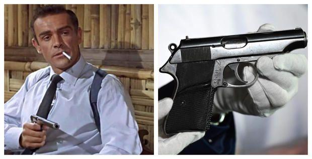 """El comprador pagó más de un cuarto de millón por la legendaria arma que utilizó Sean Connery en """"El satánico Dr. No"""", primera película del agente 007."""
