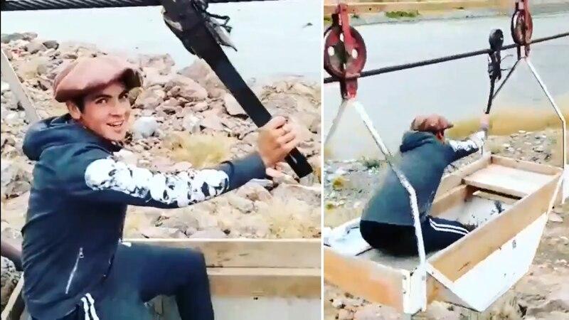 La conmovedora historia de Agustín, un joven de Malargüe que cruza un río para estudiar