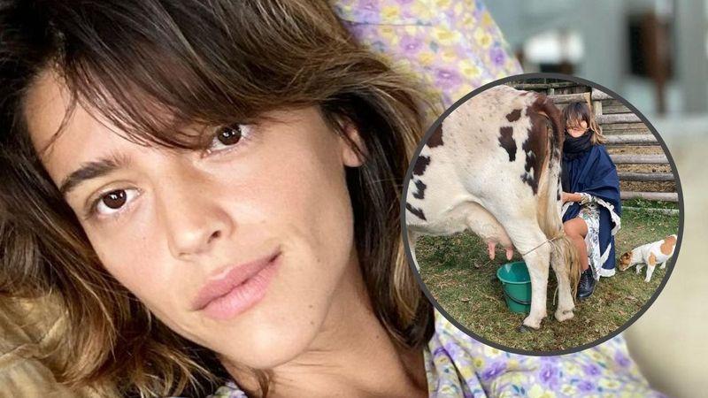 """Calu Rivero compartió el momento en el que ordeñó a su vaca Aurora: """"Qué bien se sintió el contacto con tu cuerpo"""""""