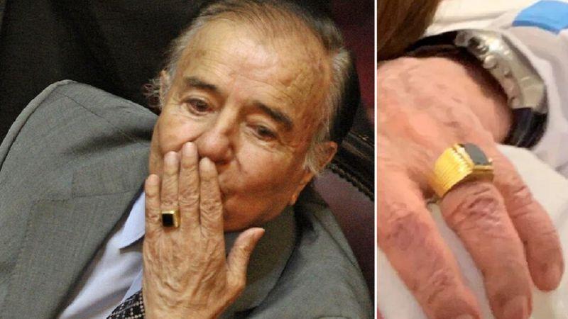 Se robaron el icónico anillo de Carlos Menem: qué se sabe