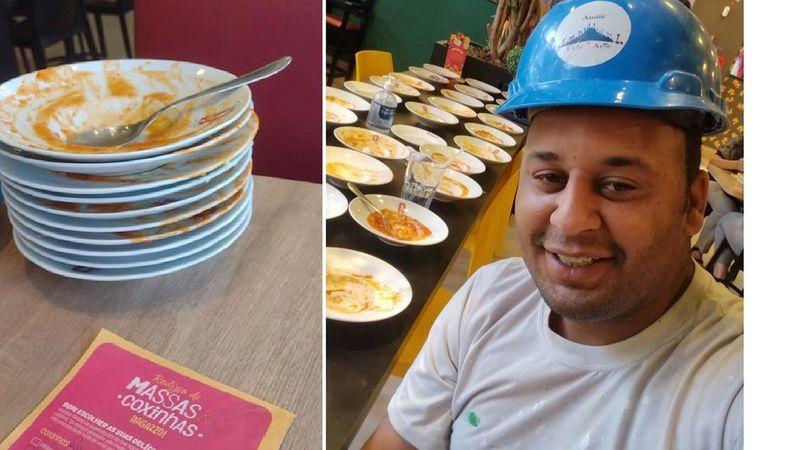 Expulsaron a un hombre que pidió 15 platos de pasta en un tenedor libre