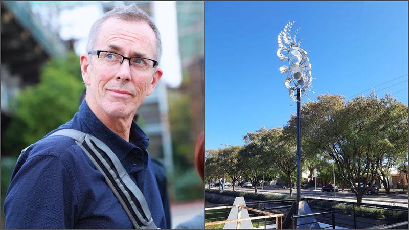 Video: el mensaje de indignación del escultor estadounidense que denunció plagio de su obra en San Rafael