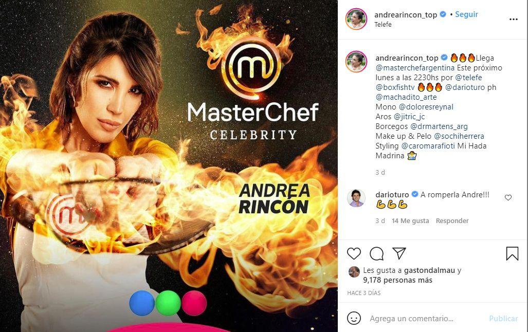Andrea Rincón, participante de MasterChef Celebrity 2