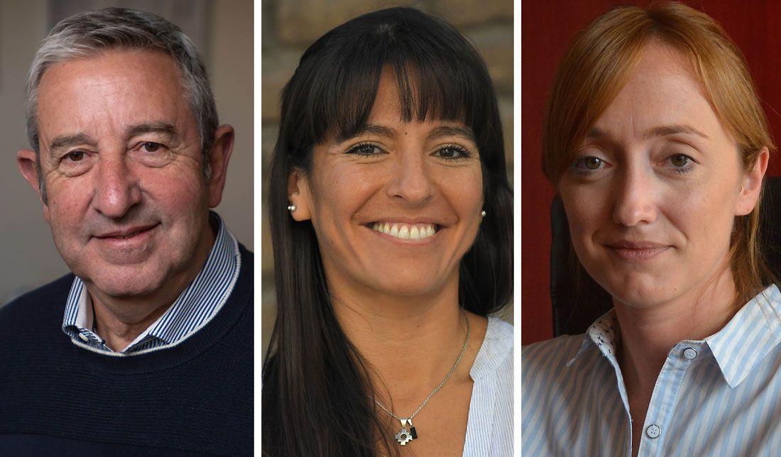 Julio Cobos; Pamela Verasay y Anabel Fernández Sagasti