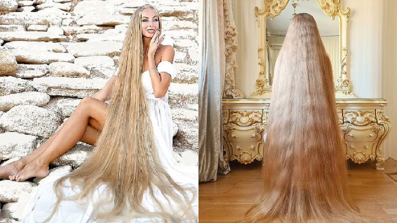 La Rapunzel de la vida real reveló el desagradable secreto para mantener la longitud de su pelo