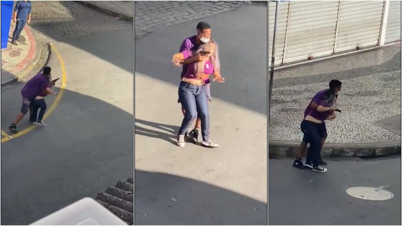 Tomó a una mujer como escudo humano para escapar de la policía, lo mataron a balazos y los vecinos festejaron