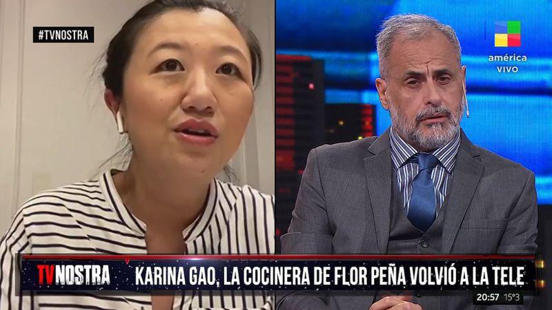 Jorge Rial entrevistó a Karina Gao y lloró por primera vez al aire