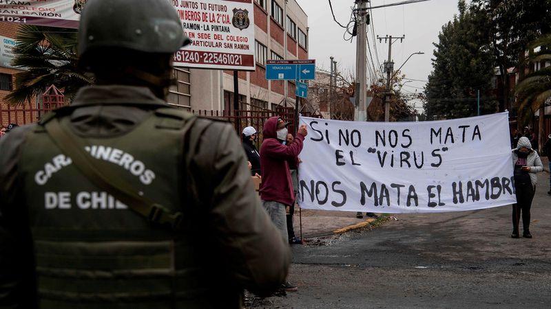 Un hombre murió durante una protesta en Chile contra el gobierno de Piñera
