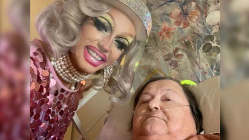 Es drag queen, le hizo un show a su abuela enferma que la conmovió y se hizo viral