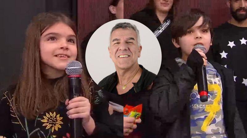 Verdaderos Agrandadytos: Felipe y Rosario, los hijos de Dady Brieva, divirtieron a Tinelli con sus ocurrencias