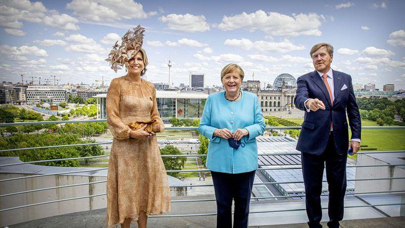 El impactante sombrero que eligió Máxima Zorreguieta en su visita a Berlín e impactó a todos