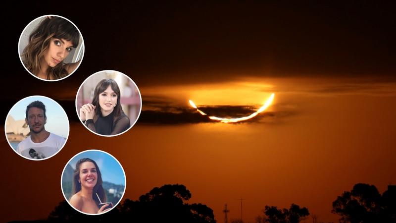 Así vivieron los famosos el eclipse en Argentina