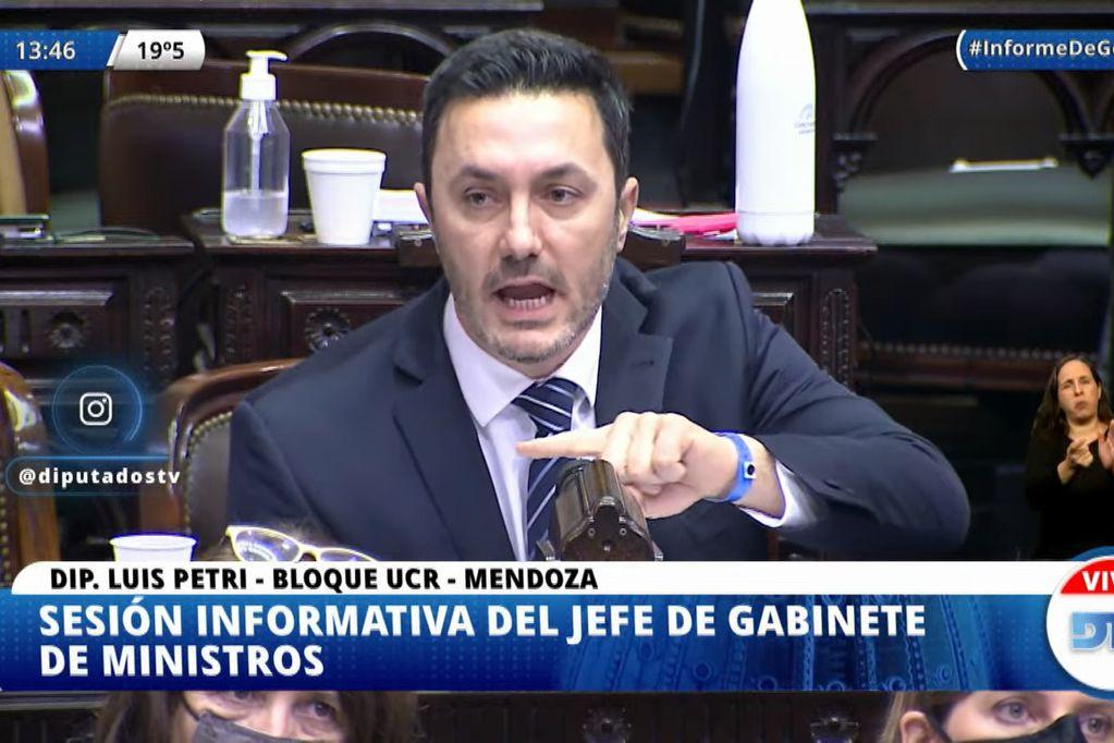 """Petri cruzó a Santiago Cafiero en el Congreso: """"Pusieron en cuarentena a la Constitución"""""""