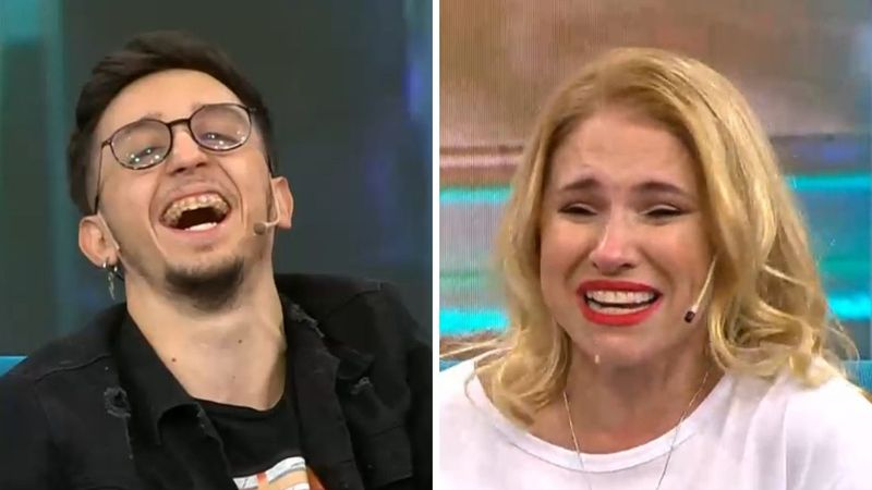 """Fernanda Iglesias desbarrancó en vivo al ver los tatuajes de Rodrigo Noya en el abdomen: """"Voy a chuparte las estrellas"""""""