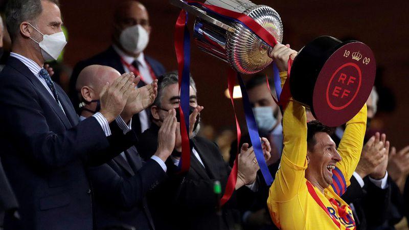 Video: con un Lionel Messi brillante, autor de dos goles, Barcelona gritó otra vez campeón de la Copa del Rey