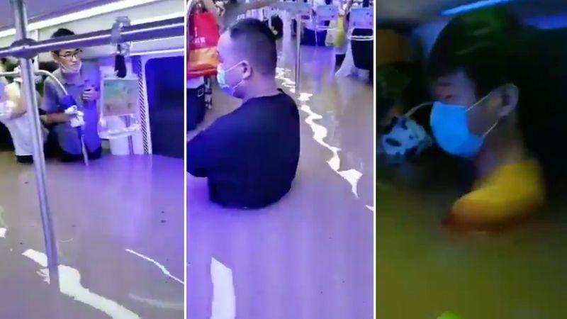 """Al menos 25 muertos por las """"históricas"""" lluvias en China: casi la mitad falleció ahogado en el subte"""